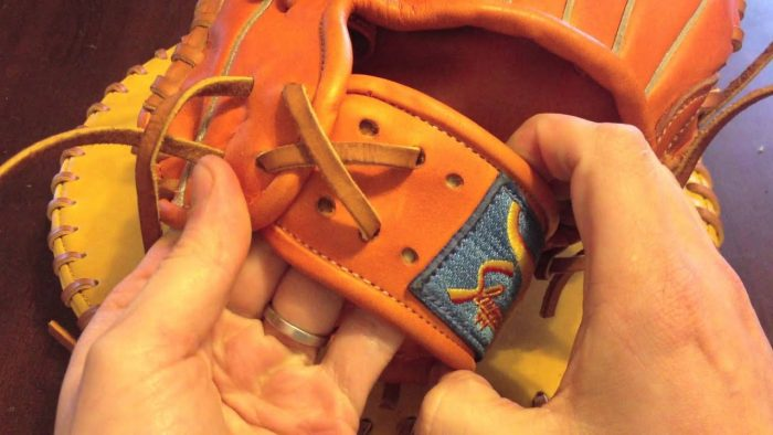 How to lace a baseball glove